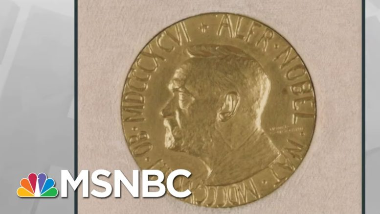 Trump Uses Photo Of Wrong Medal To Falsely Imply He Received Nobel Prize | Rachel Maddow | MSNBC 1