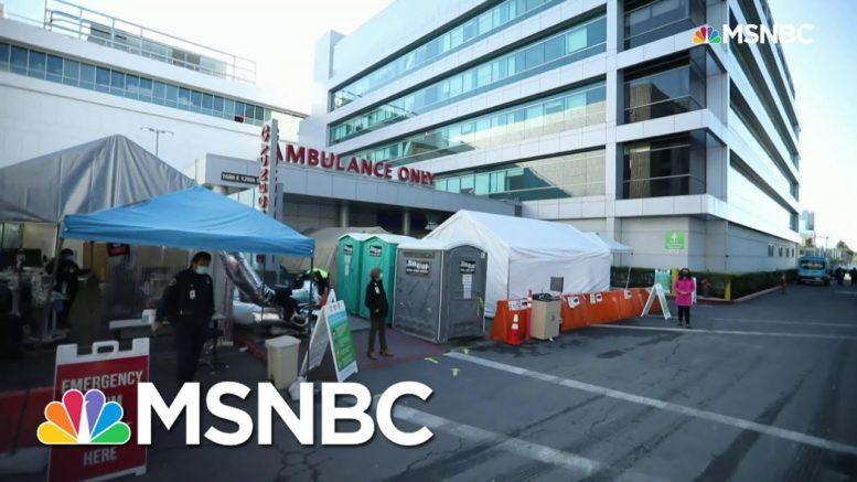 Rampant Covid-19 Crushing L.A. County Hospital Resources | Rachel Maddow | MSNBC 1