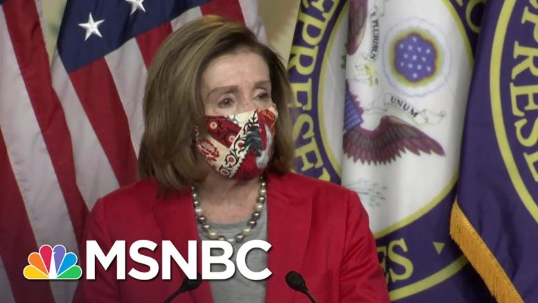 Pelosi Criticizes Senate Republicans For Blocking Stimulus Payment Increase | MSNBC 1