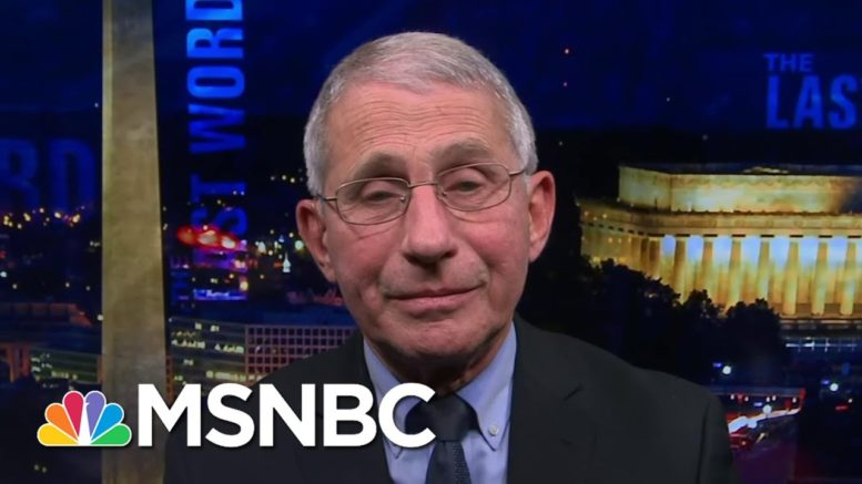 Dr. Fauci: To Ramp Up Covid Vaccinations 'Put A Full-court Press On The Local Level'   The Last Word 1