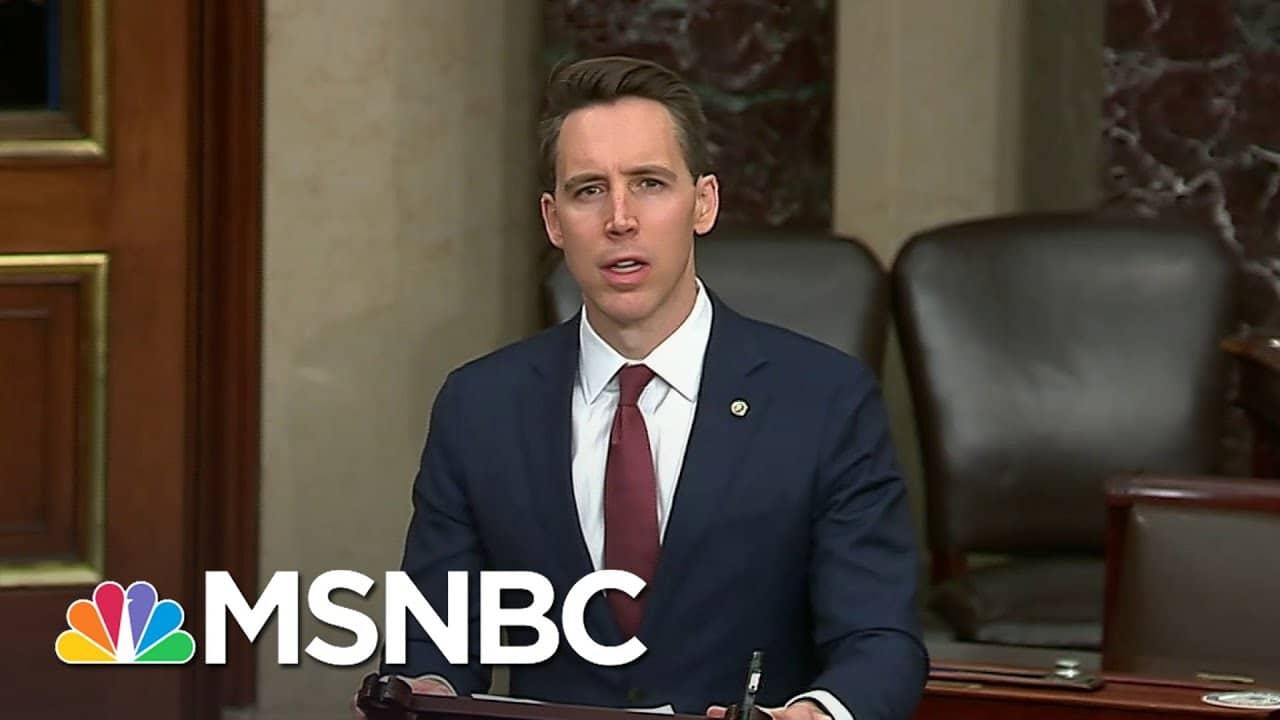Sen. Hawley To Challenge Biden Electors | The 11th Hour | MSNBC 1