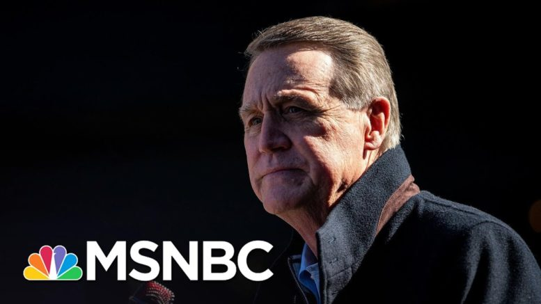Georgia Sen. Perdue In Quarantine After Campaign Member Tests Positive For Covid | MSNBC 1