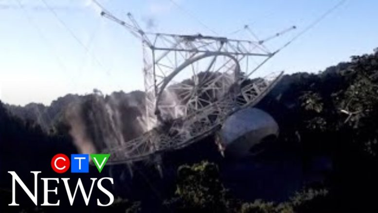 Watch the moment Puerto Rico's famous Arecibo Observatory collapses 1