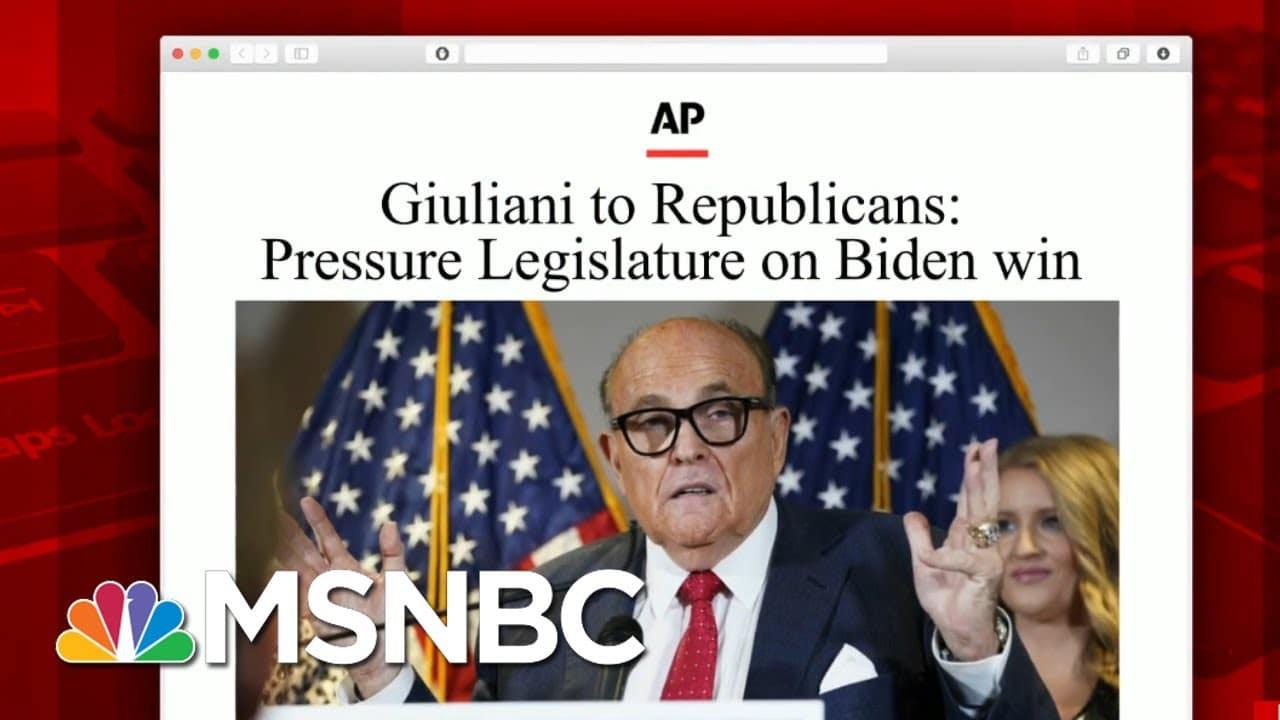 Pro-Trump Lawyers Tell Georgians Not To Vote In Runoff   Morning Joe   MSNBC 1