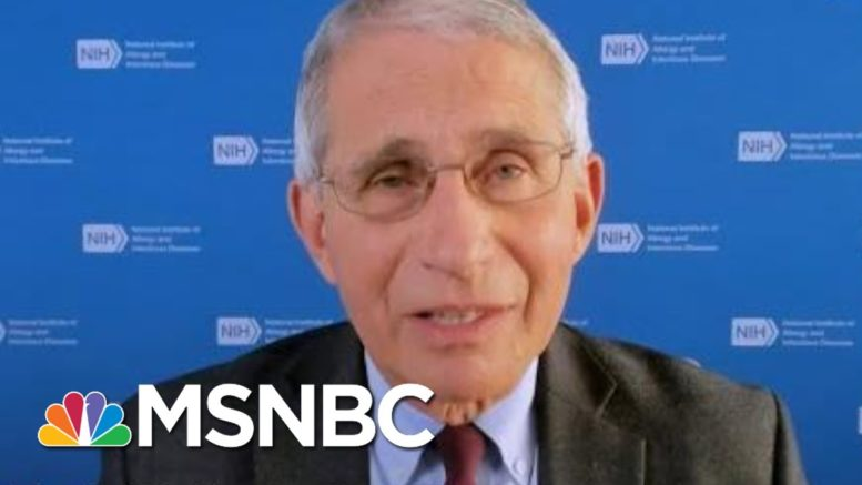 Americans Should 'Hang On' For Vaccine, Not Travel Or Congregate For Holidays | Andrea Mitchell 1