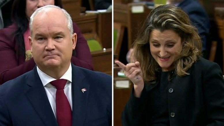 Chrystia Freeland calls out Erin O'Toole's 'bad habit' in the House of Commons 1