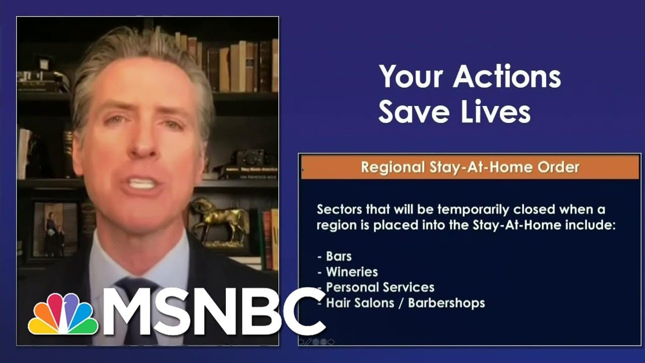 California Issues New Stay-At-Home Order Linked To ICU Capacity | Ayman Mohyeldin | MSNBC 4