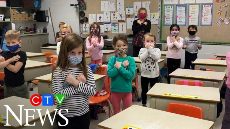 Sask. teacher shows students how to sign O Canada 1
