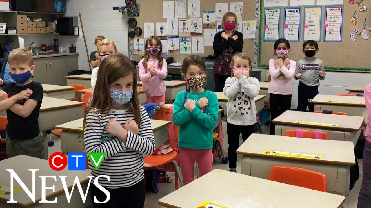 Sask. teacher shows students how to sign O Canada 4