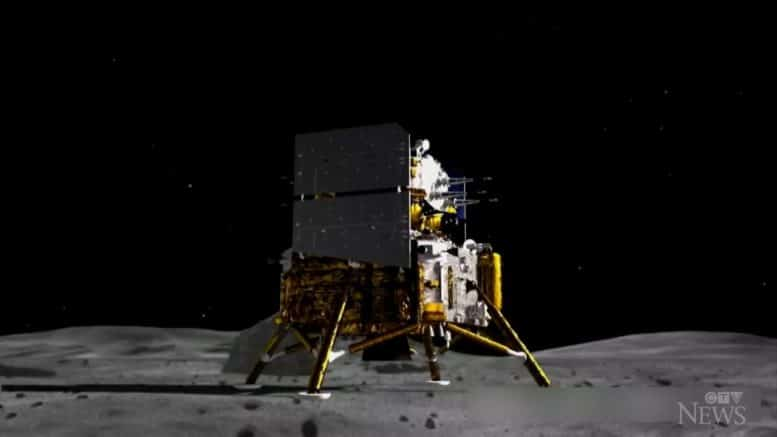 Chinese spacecraft collects moon samples 1