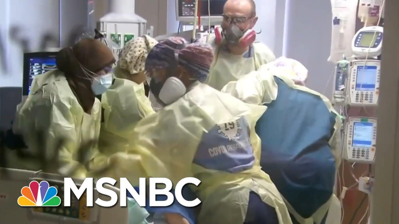 What It Means To 'Prone' A Covid-19 Patient; Nothing Is Easy In Covid Care   Rachel Maddow   MSNBC 1