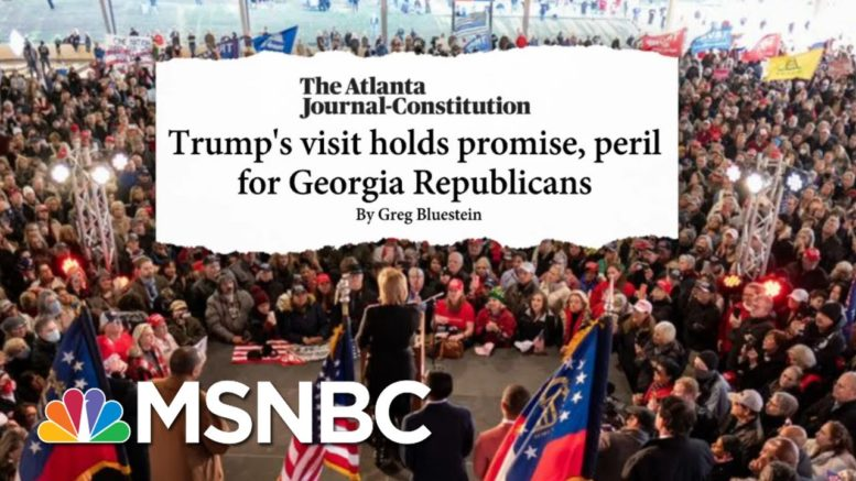 There's 'A Lot Of Squeamishness' Among Republicans Over Trump Visit To GA | Stephanie Ruhle | MSNBC 1