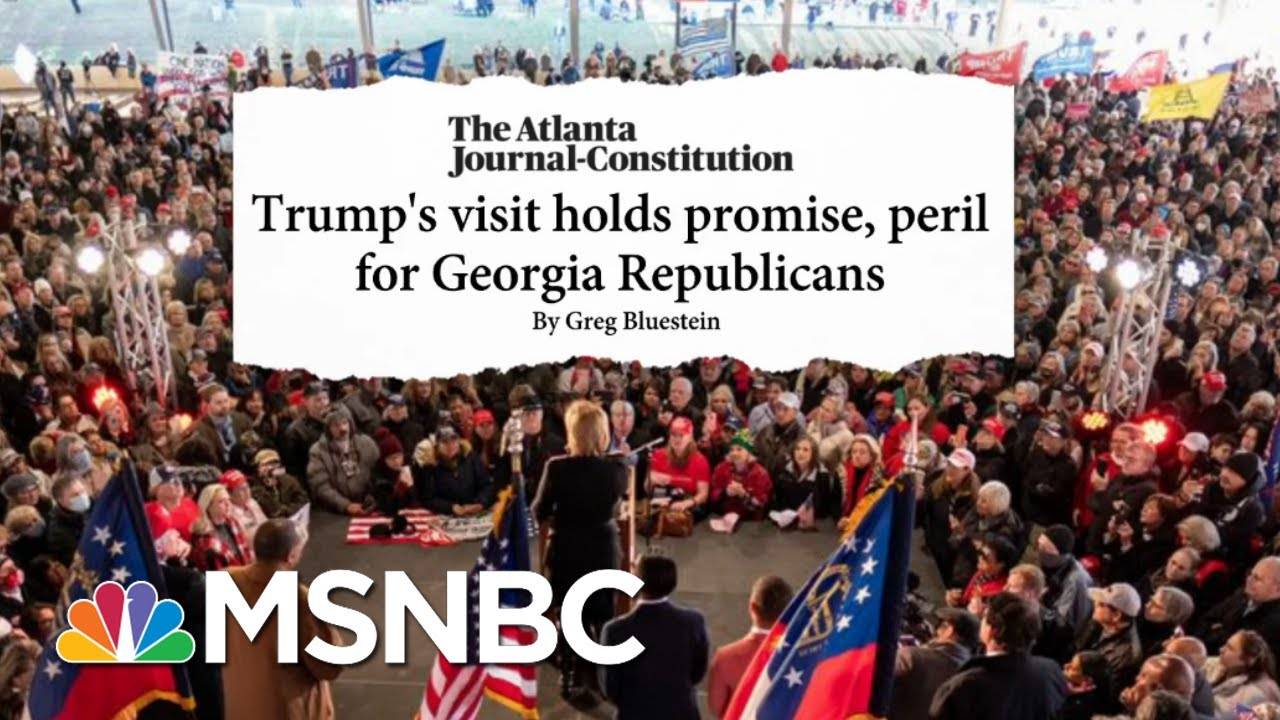 There's 'A Lot Of Squeamishness' Among Republicans Over Trump Visit To GA   Stephanie Ruhle   MSNBC 1