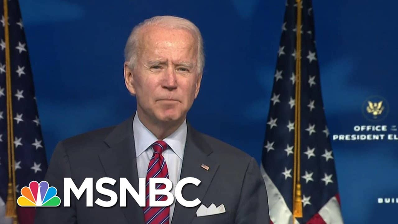 Biden Stresses Urgency To Pass Covid Relief For Americans   MSNBC 1