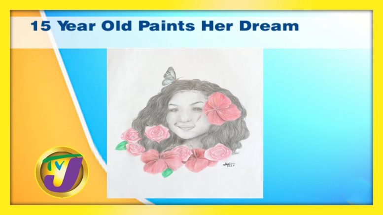 15 Year Old Paints Her Dream: TVJ Smile Jamaica - December 3 2020 1