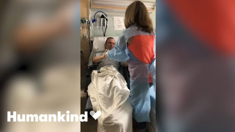 Dad beats virus and has joyful reunion with family   Humankind 1