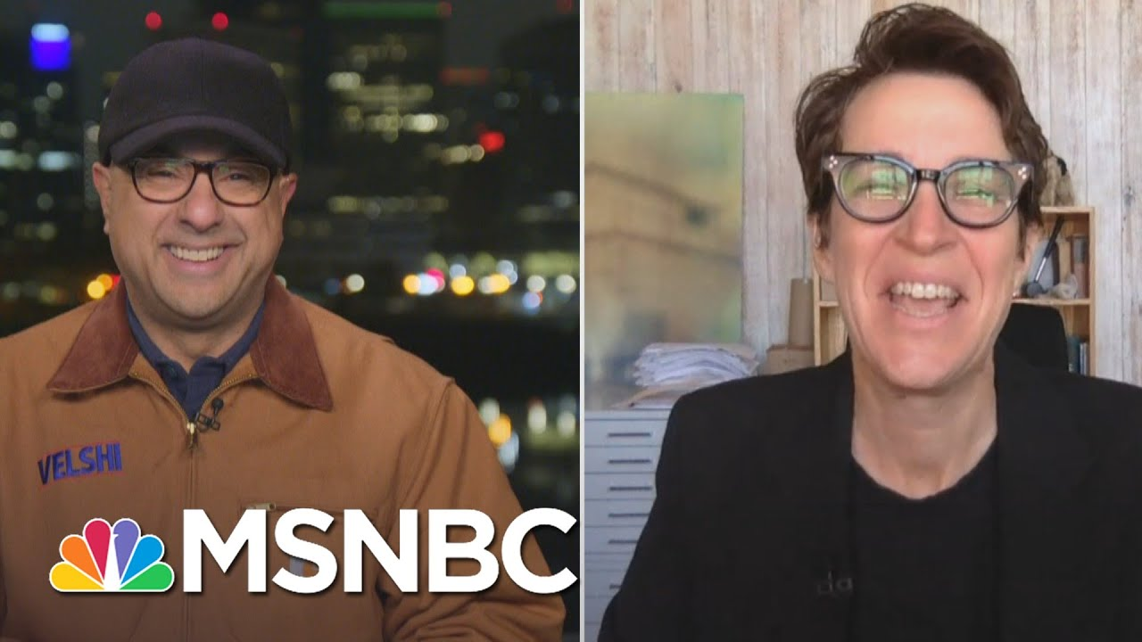 Velshi Talks with Maddow For The First Interview About Her New Book 'Bag Man'   MSNBC 1