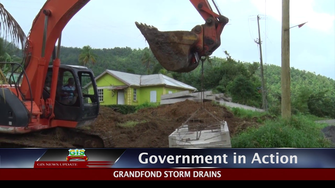GOVERNMENT IN ACTION- Grandfond Storm Drains 1