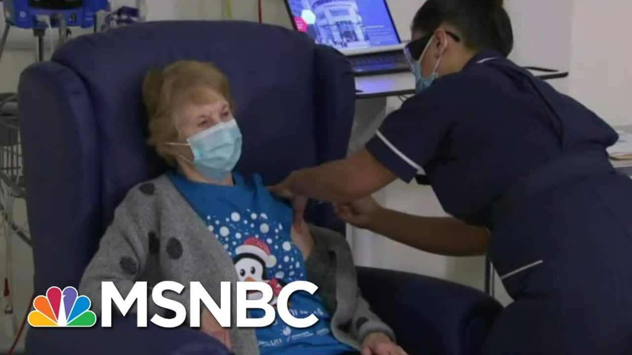 British Woman Is First To Receive BioNTech-Pfizer Covid Vaccination | Morning Joe | MSNBC 6