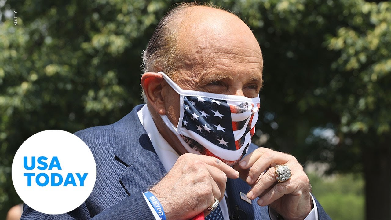 Rudy Giuliani hospitalized after testing positive for COVID-19 | USA TODAY 3
