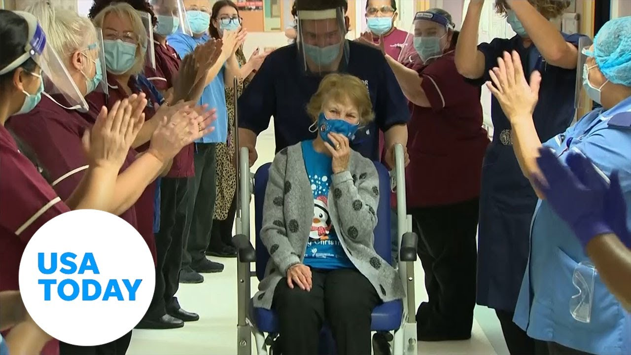 UK woman makes history with rollout of Pfizer's COVID-19 vaccine | USA TODAY 1