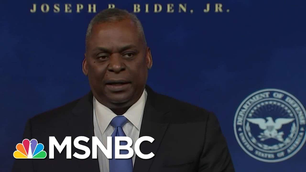 Biden's Defense Secretary Nominee Retired Gen. Lloyd Austin Delivers Remarks | MSNBC 2
