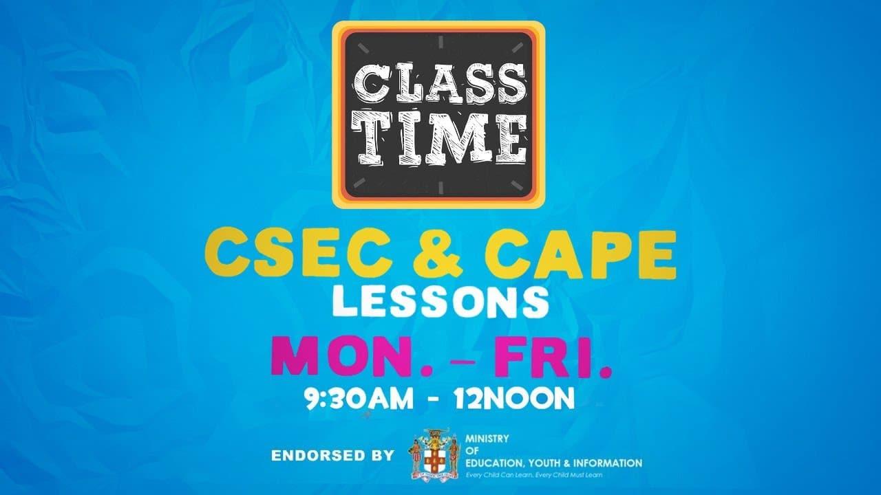 CSEC Principles of Business | CSEC Geography | CAPE Biology - December 8 2020 1