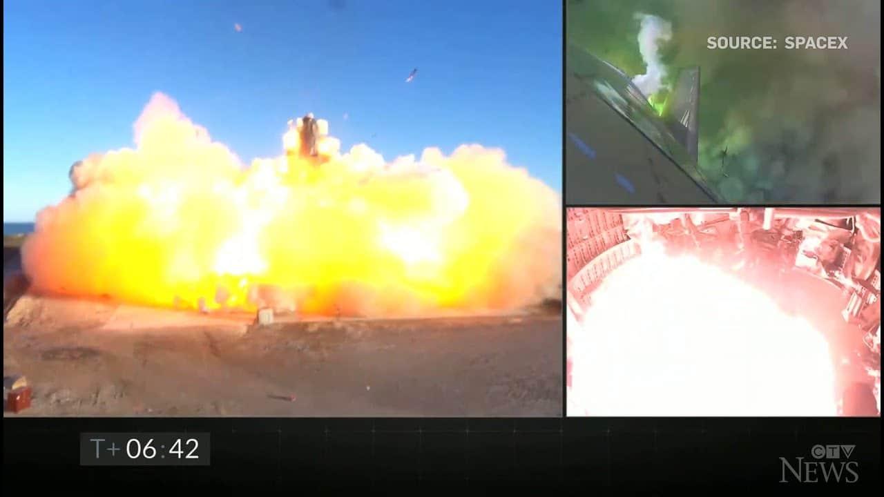 SpaceX rocket explodes on landing after test flight 6