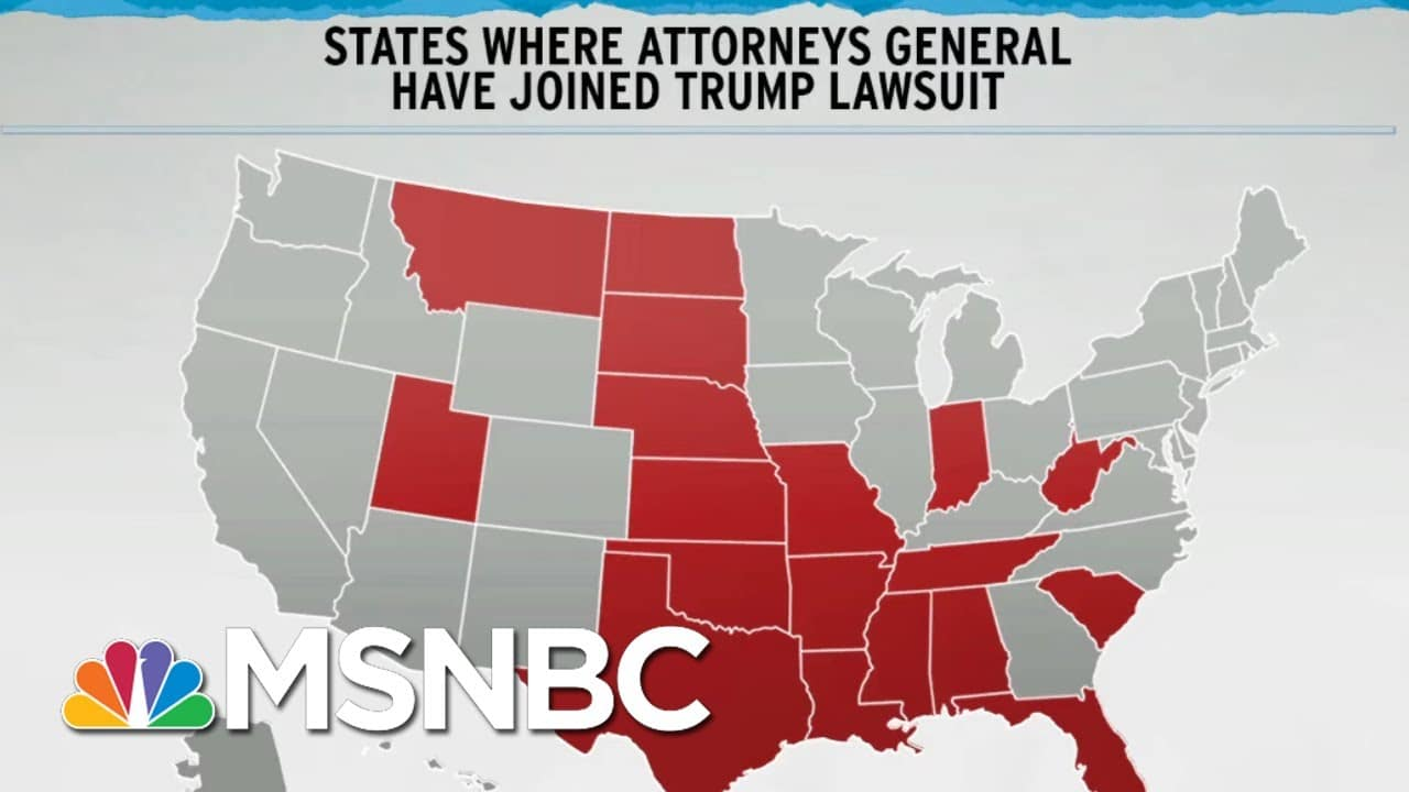 17 States Say Texas Should Decide Swing States' Elections | Rachel Maddow | MSNBC 1