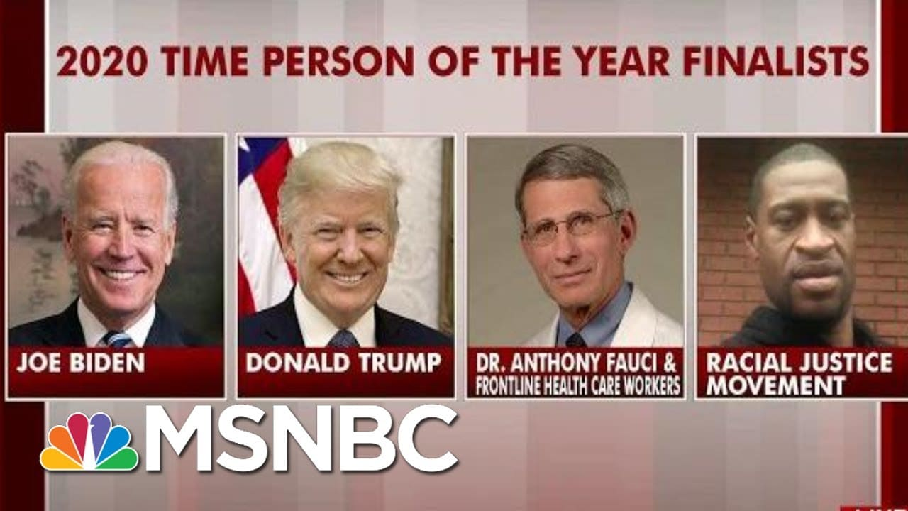 Time Announces Its Finalists For 2020 Person Of The Year | Morning Joe | MSNBC 4