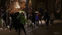 Police clash with protesters in Albania 6