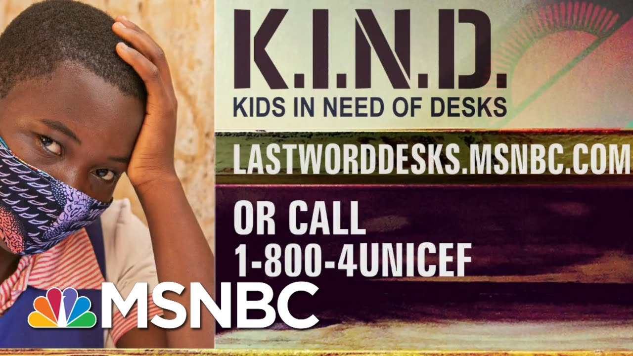 K.I.N.D. Fund Desks Help Social Distancing In Classrooms | The Last Word | MSNBC 1