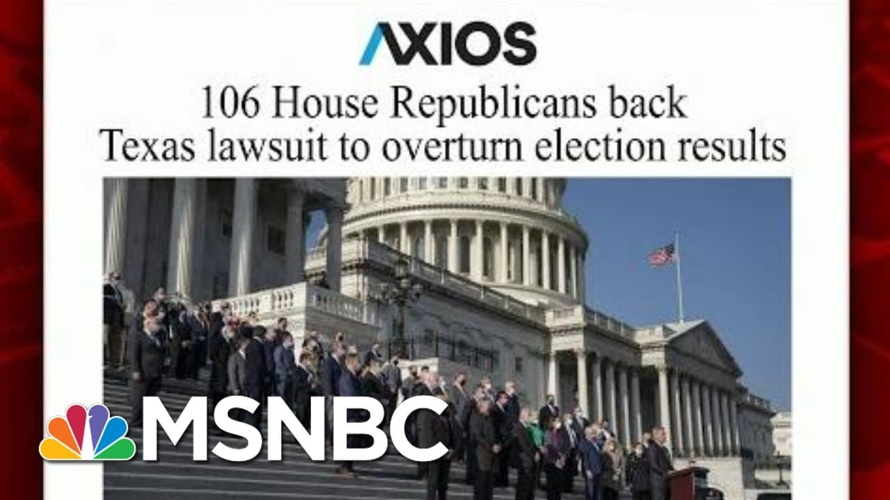 More Than 100 House GOP Support Texas Lawsuit   Morning Joe   MSNBC 1