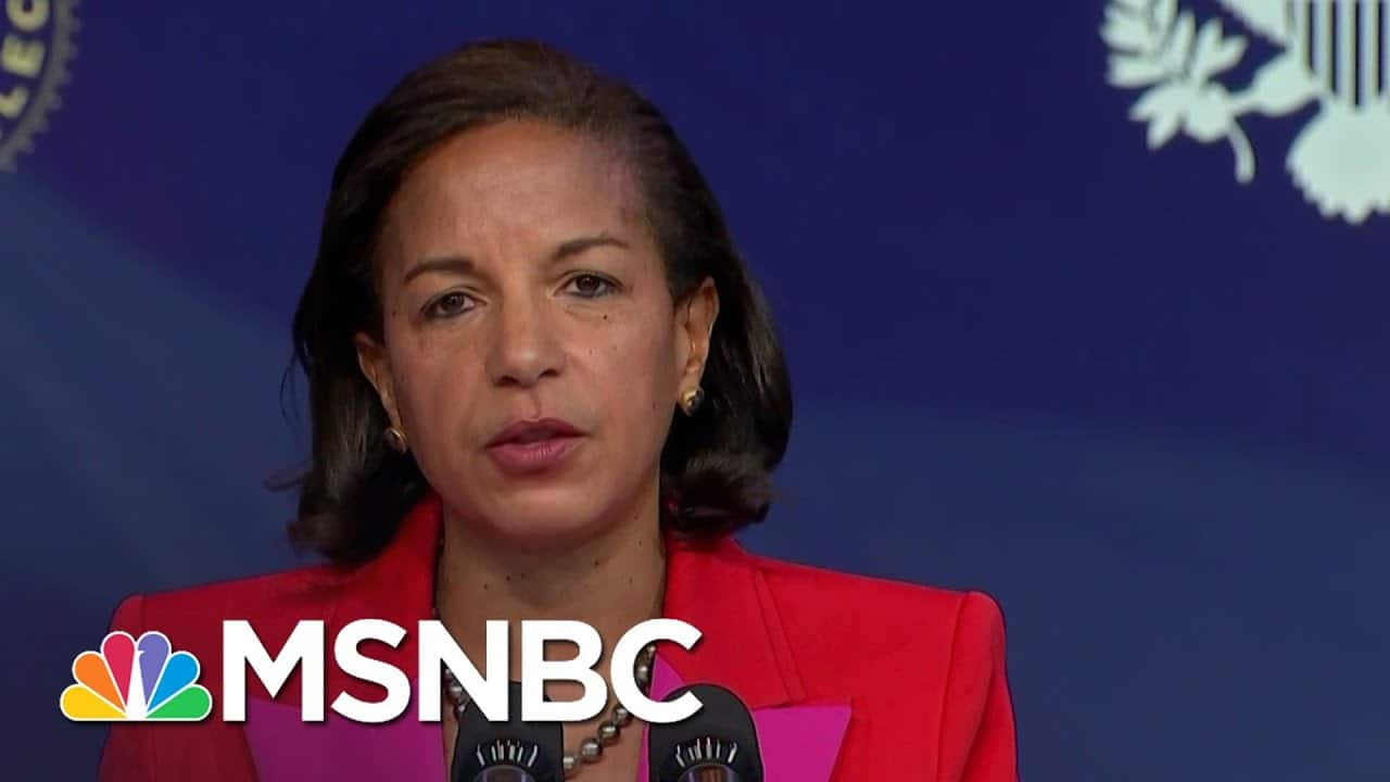 Susan Rice Delivers Remarks As Biden's Appointee To Lead Domestic Policy Council   MSNBC 8