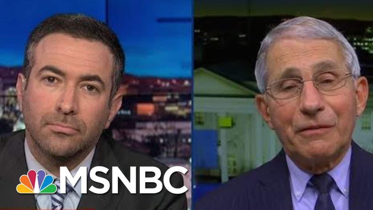 See Dr. Fauci Explain Why U.S. Vaccine Is Coming Now   The Beat With Ari Melber   MSNBC 1