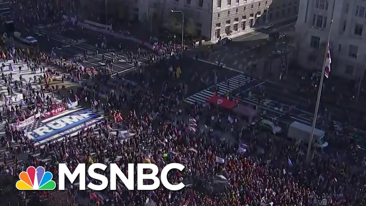 Trump Supporters Protest Election Results At The National Mall, March To Supreme Court | MSNBC 1