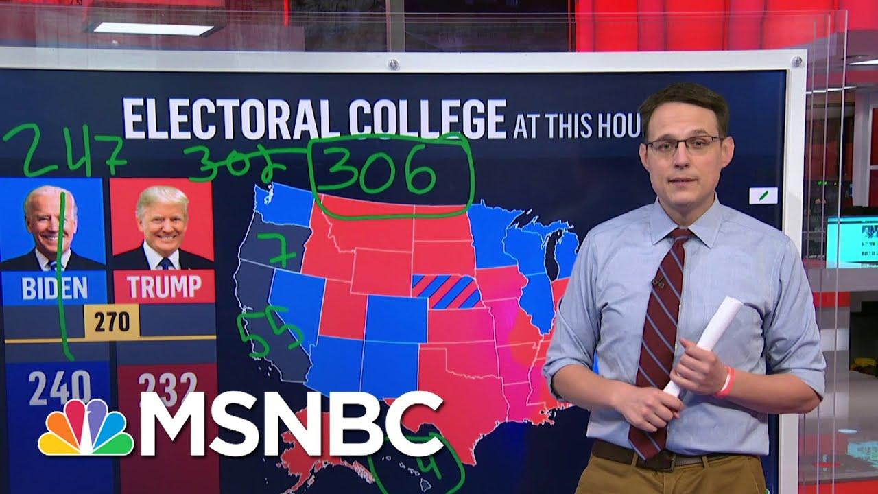 Steve Kornacki Back At The Big Board: Explaining The Electoral College   Deadline   MSNBC 1