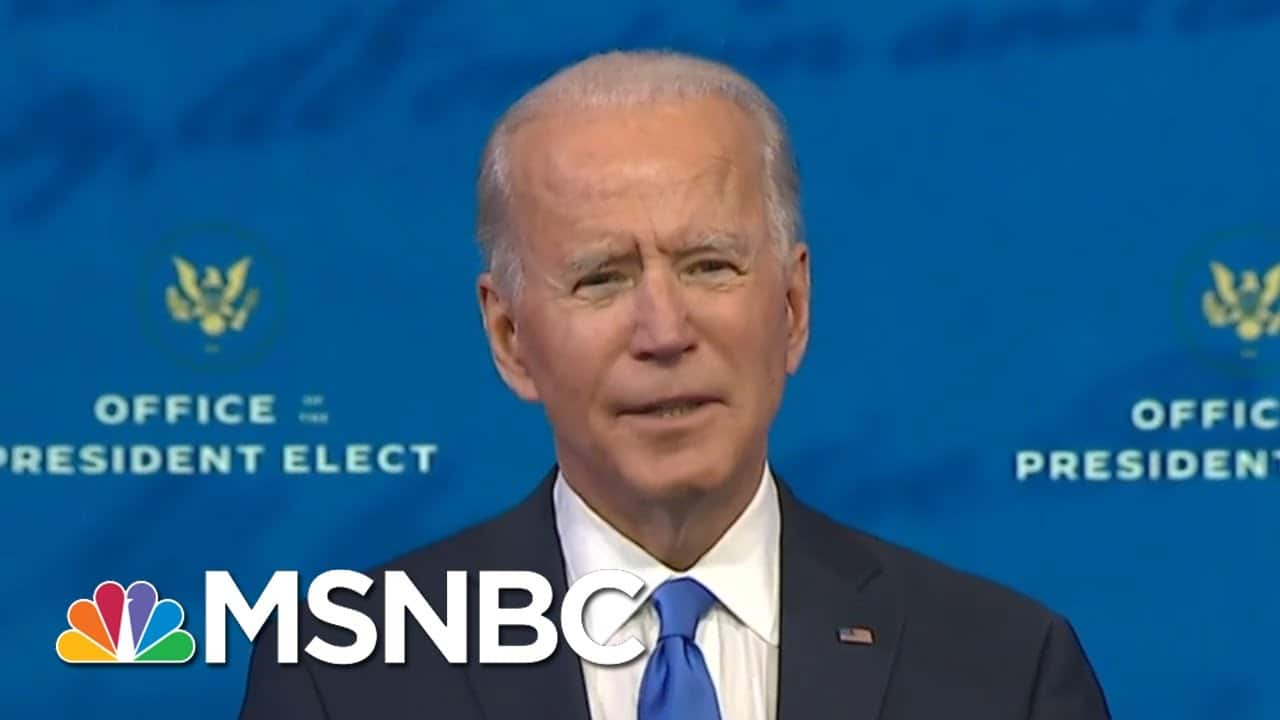 Biden Addresses Loved Ones Of 300,000 Americans Who Have Died Of Covid-19 | All In | MSNBC 1