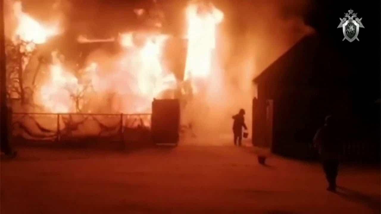 Eleven killed in massive fire at Russian nursing home 1