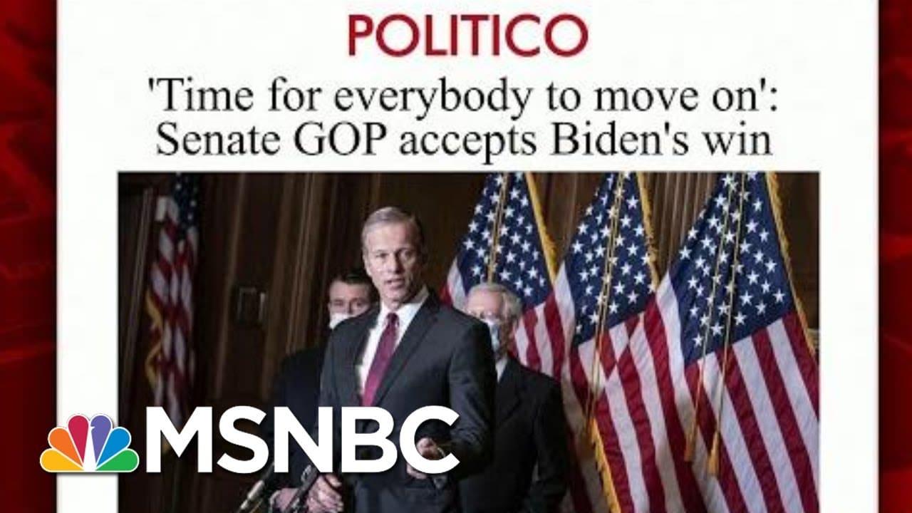 More Republicans Senators Acknowledge Biden's Win | Morning Joe | MSNBC 1