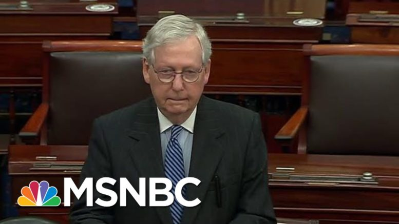McConnell Congratulates President-Elect Biden On Senate Floor | Hallie Jackson | MSNBC 1