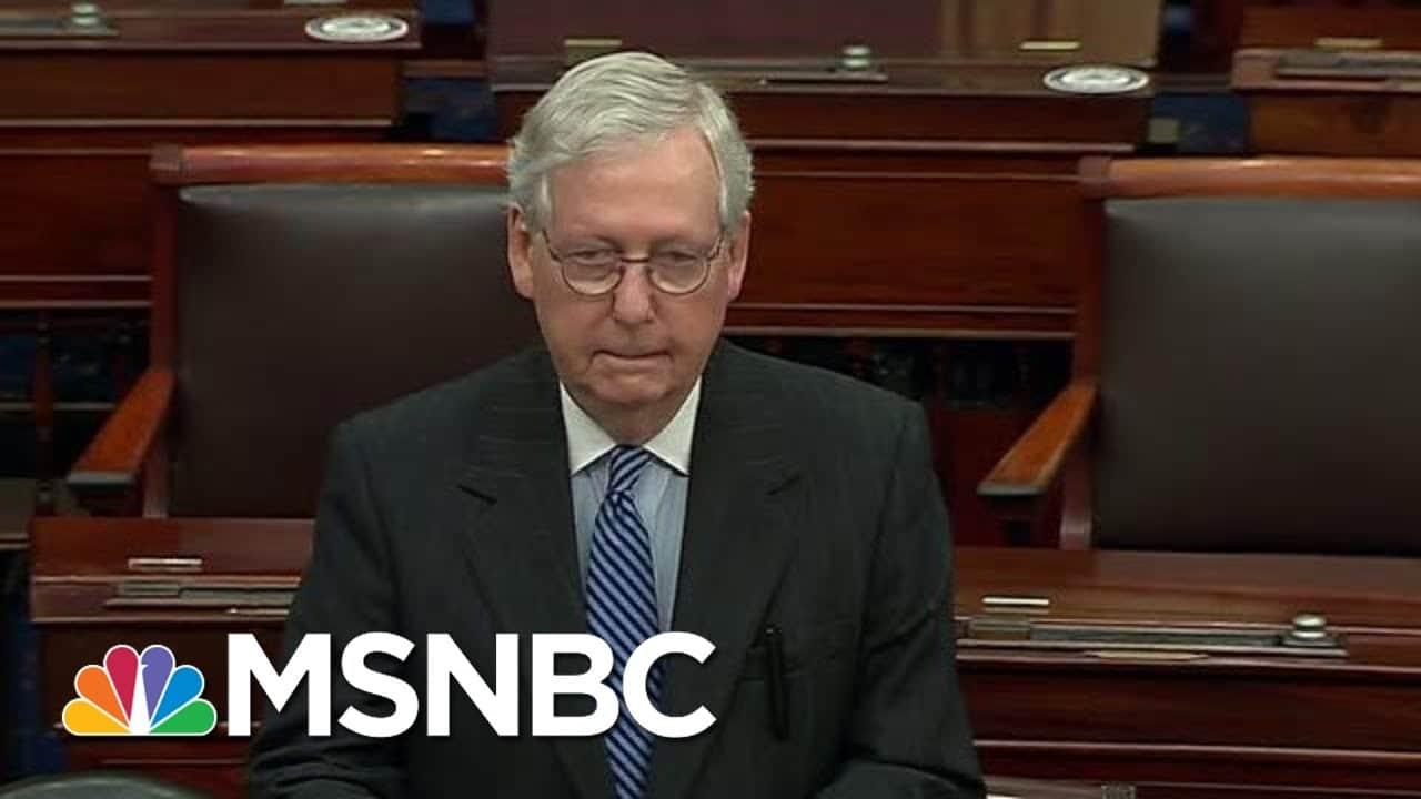 McConnell Congratulates President-Elect Biden On Senate Floor | Hallie Jackson | MSNBC 9