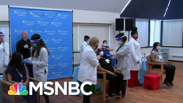 Chicago Administers First Doses Of Pfizer Covid Vaccine At West Side Hospital | Craig Melvin | MSNBC 1