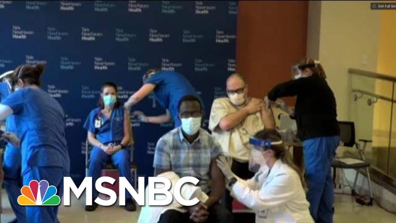 First Covid-19 Vaccines Being Administered At Yale New Haven Hospital   MTP Daily   MSNBC 1