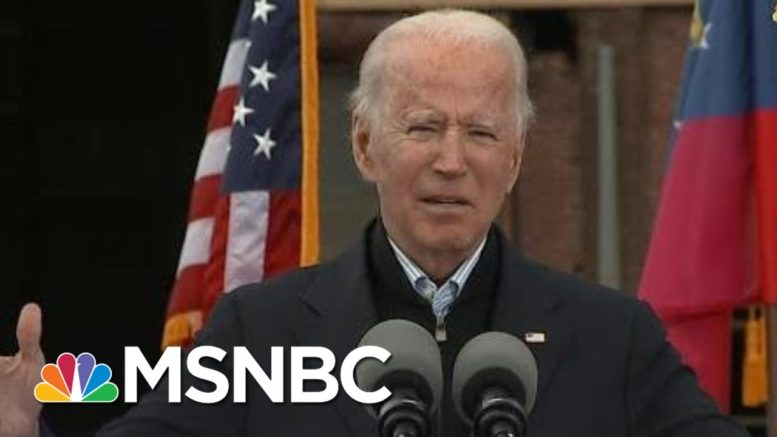 Biden Calls On Voter To Turn Out While Campaigning For Warnock And Ossoff In Georgia | MSNBC 1