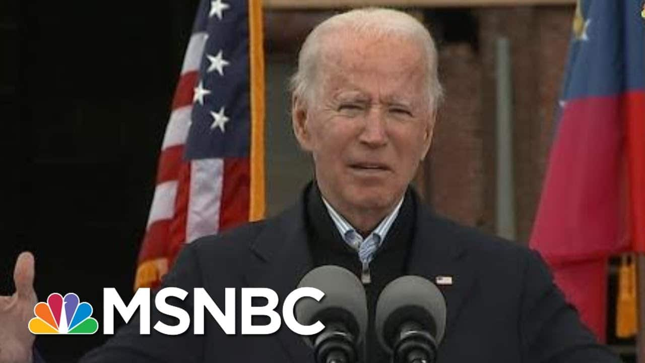 Biden Calls On Voter To Turn Out While Campaigning For Warnock And Ossoff In Georgia | MSNBC 8