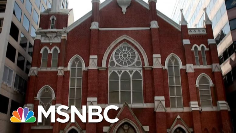 'As Low As It Gets': Black Lives Matter Signs Destroyed At Historic D.C. Churches | All In | MSNBC 1