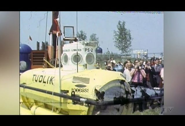 Archive: Launch of Tudlik - Ontario's first observation submarine 1