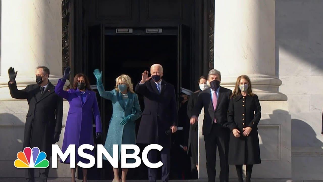 Joe Biden, Kamala Harris Arrive At The Capitol On Inauguration Day | MSNBC 1