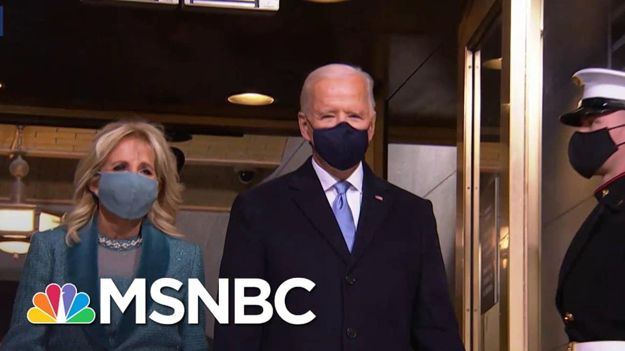 Joe Biden Arrives At Inaugural Platform To Be Sworn In As The 46th President Of The United States 3